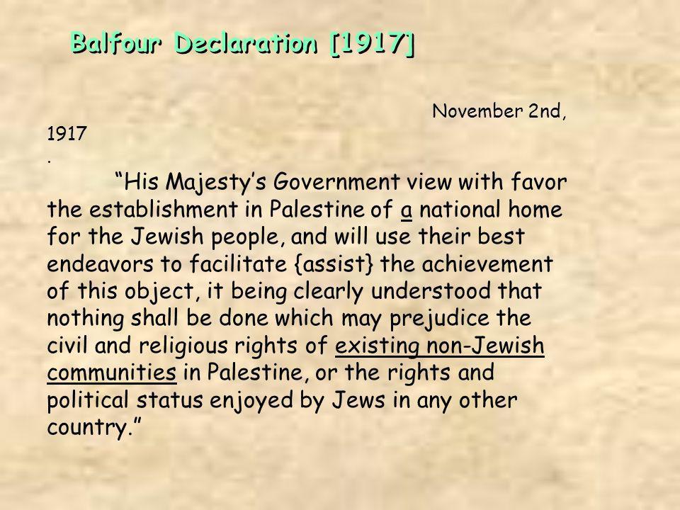 Balfour Declaration [1917]